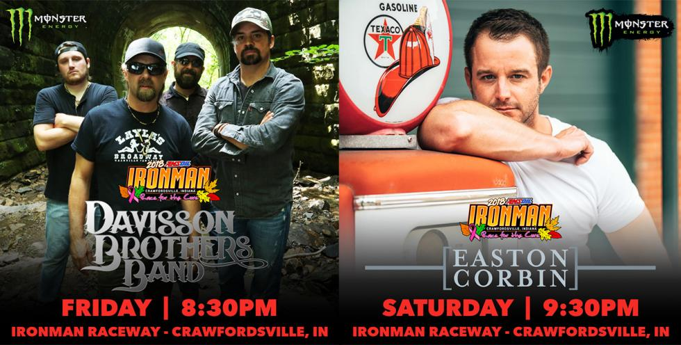Monster Energy presents Davisson Brothers Band and Easton Corbin at the AMSOIL Ironman GNCC.