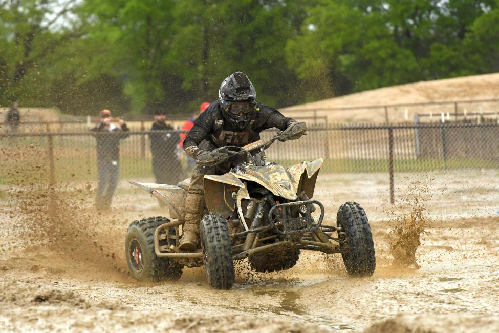 Thomas Brown earned the win at Texas in very muddy conditions.