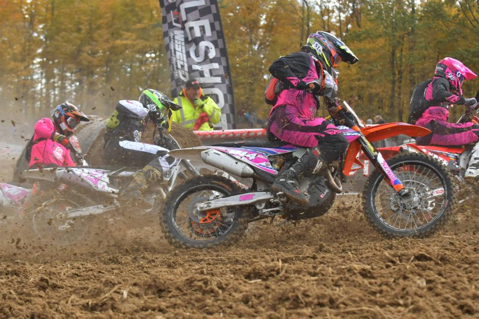 GNCC Racing welcomes its riders and fans to be decked out in pink with graphics, gear and more.